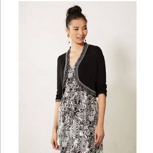 Knitted & Knotted Anthropologie Black Shrug M